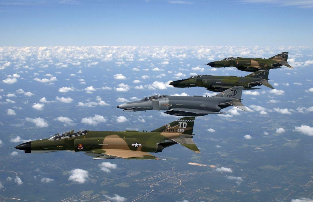F-4 fighter jet bomber phantom airplane plane military (12) wallpaper