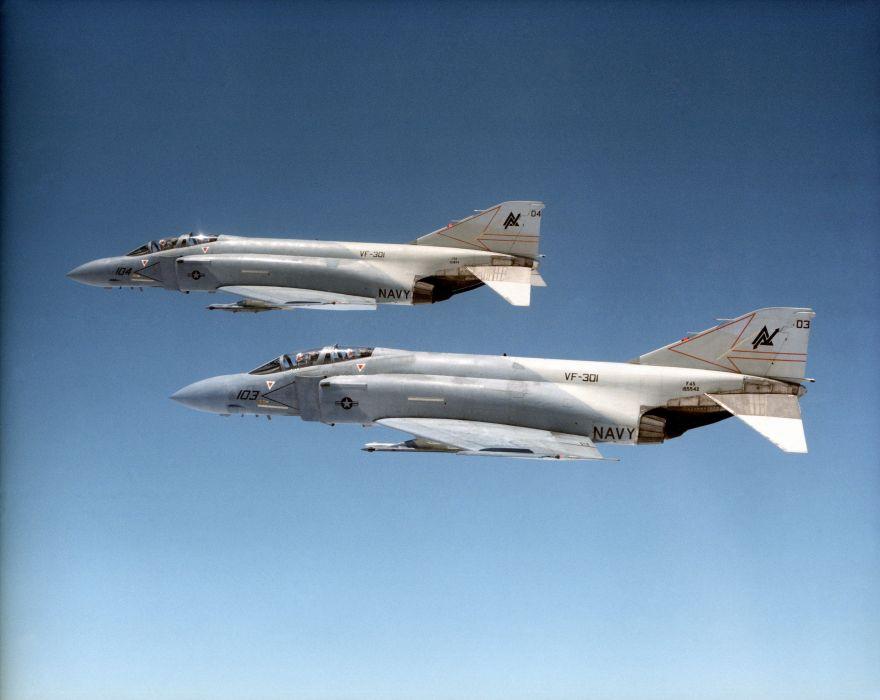 F-4 fighter jet bomber phantom airplane plane military (22) wallpaper