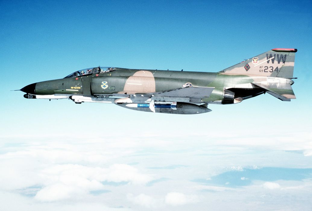 F-4 fighter jet bomber phantom airplane plane military (23) wallpaper