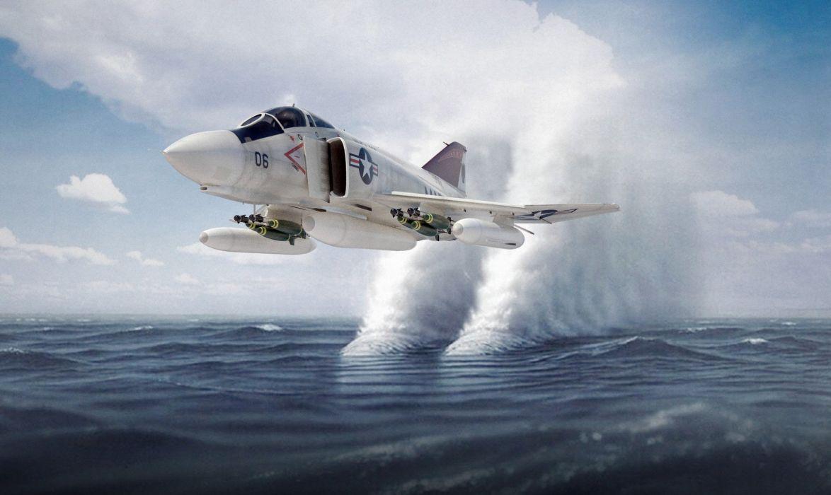 F-4 fighter jet bomber phantom airplane plane military (24) wallpaper