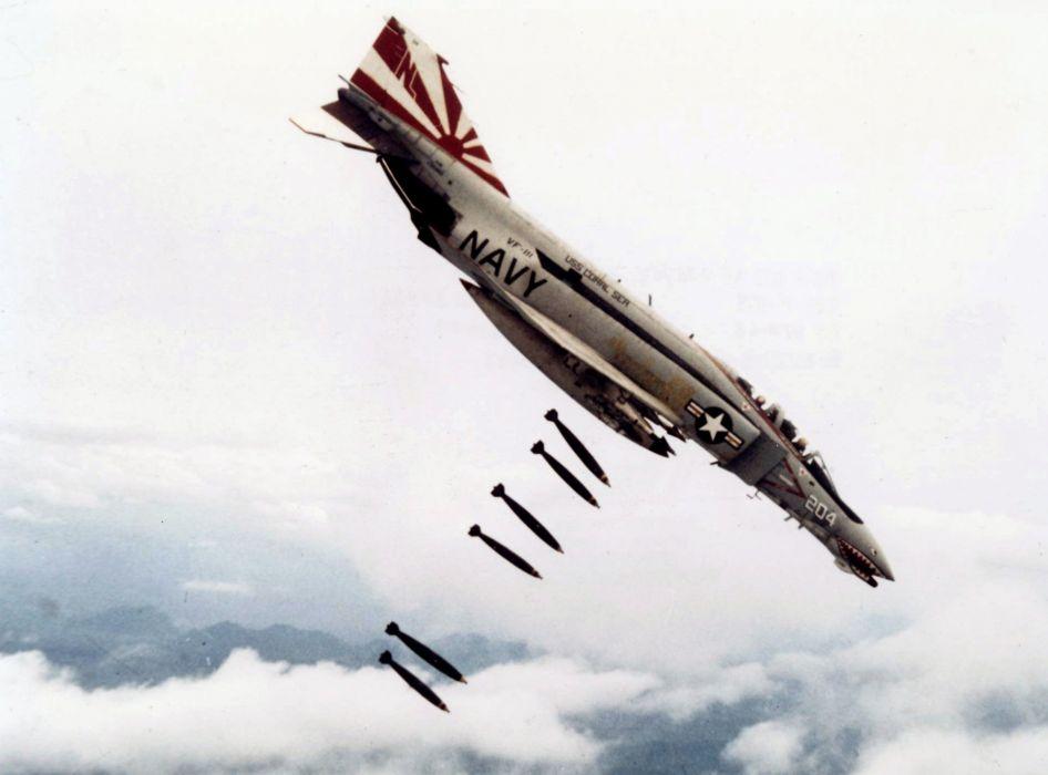 F-4 fighter jet bomber phantom airplane plane military (25) wallpaper