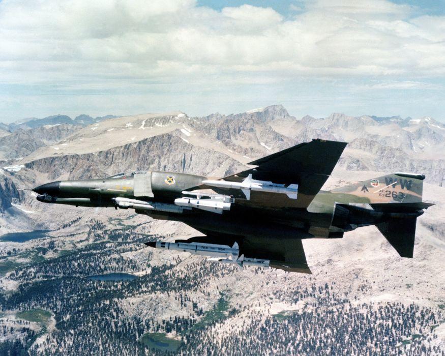 F-4 fighter jet bomber phantom airplane plane military (29) wallpaper
