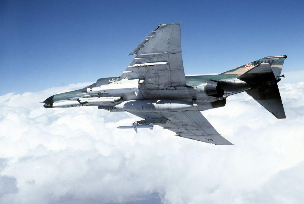 F-4 fighter jet bomber phantom airplane plane military (30) wallpaper