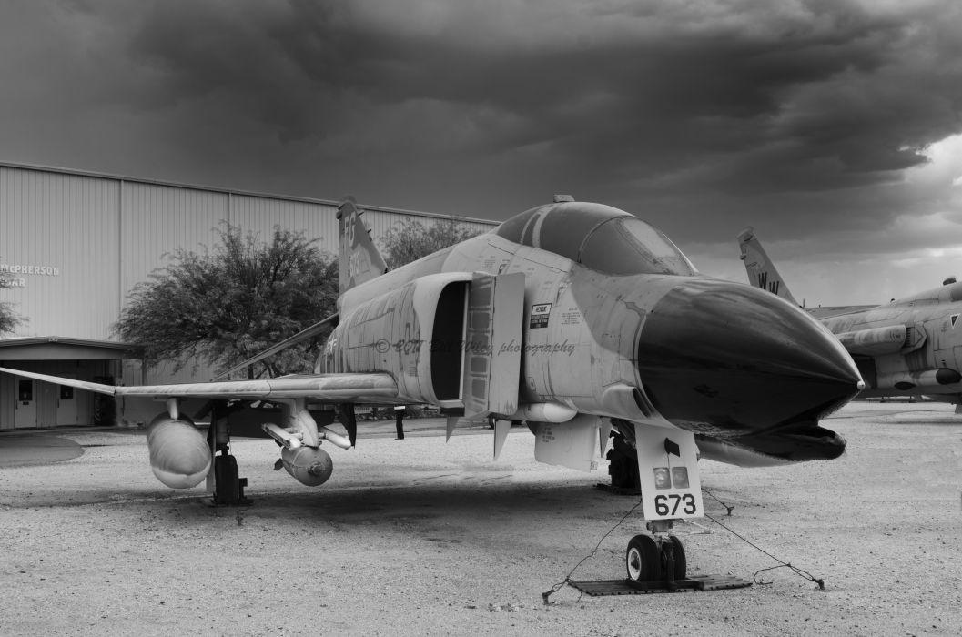 F-4 fighter jet bomber phantom airplane plane military (33) wallpaper