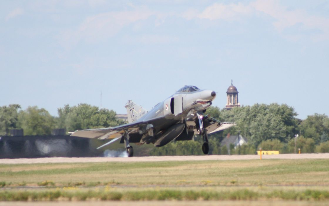 F-4 fighter jet bomber phantom airplane plane military (35) wallpaper