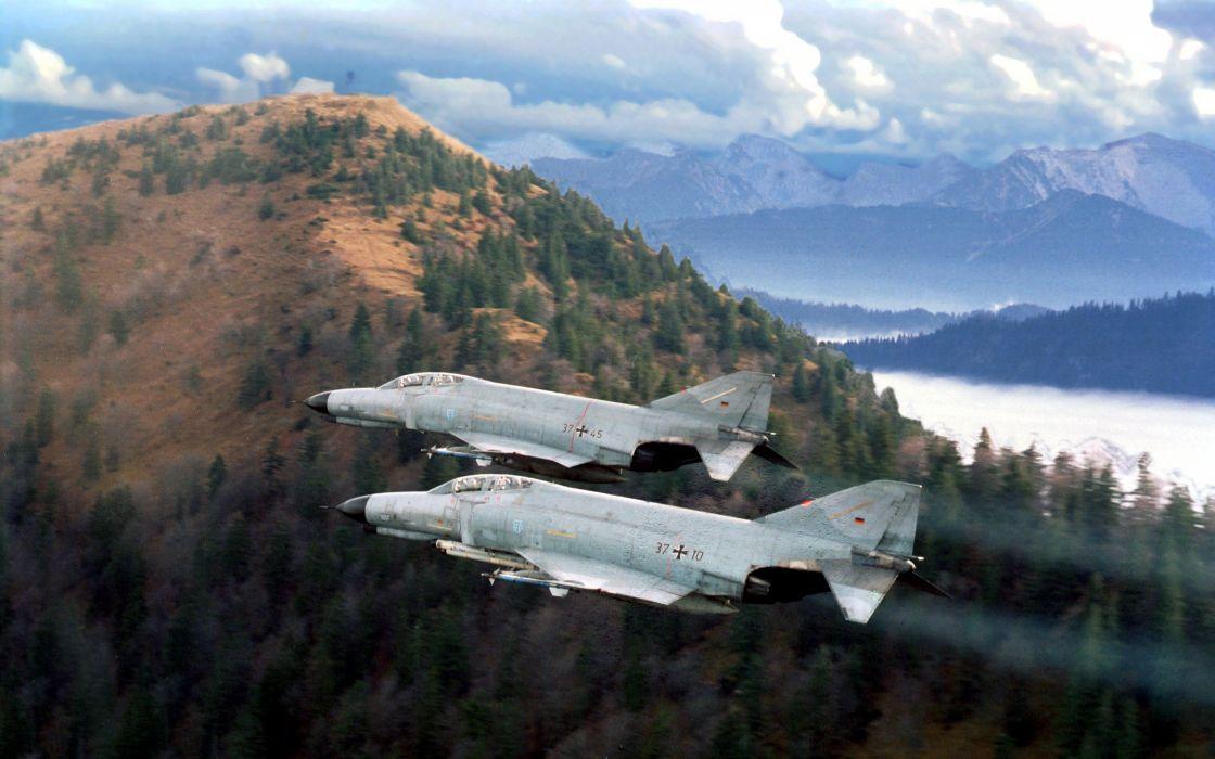 F-4 fighter jet bomber phantom airplane plane military (36) wallpaper