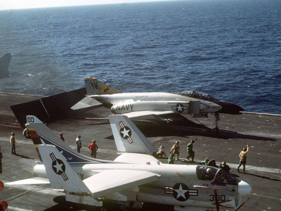 F-4 fighter jet bomber phantom airplane plane military (37) wallpaper