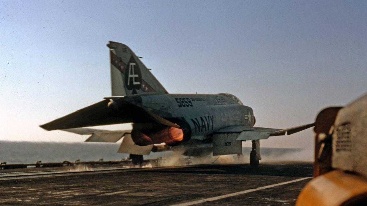 F-4 fighter jet bomber phantom airplane plane military (40) wallpaper