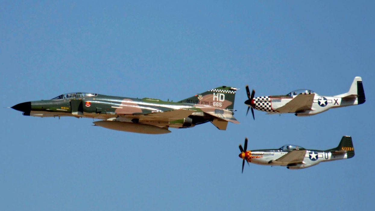 F-4 fighter jet bomber phantom airplane plane military (41) wallpaper