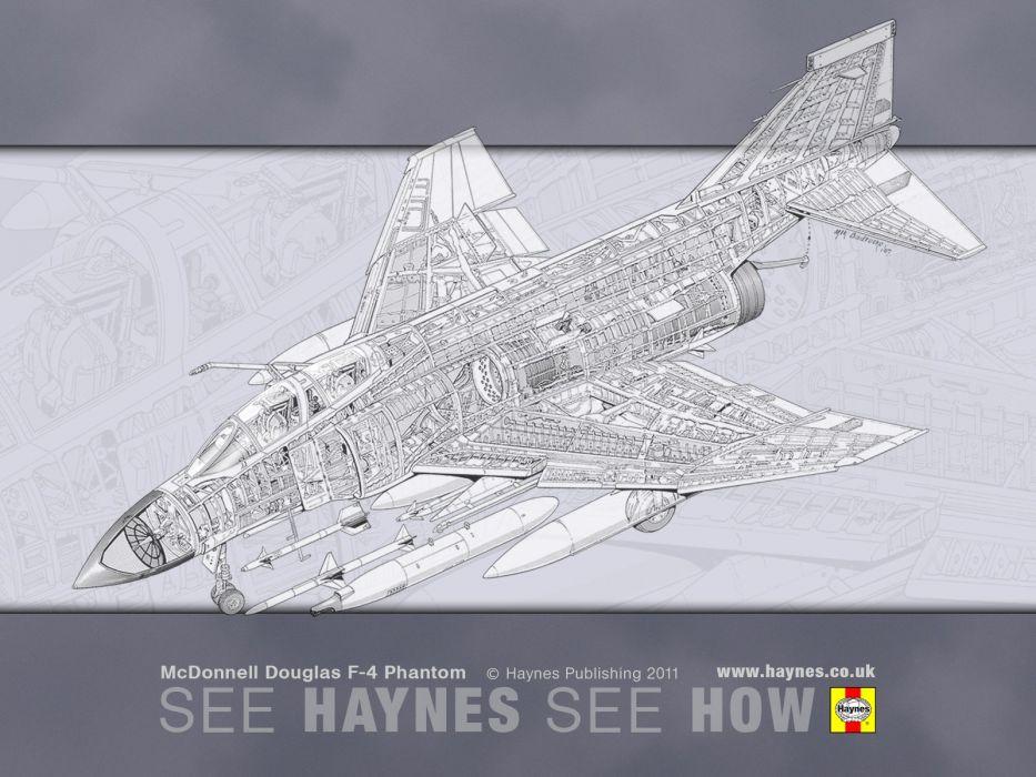 F-4 fighter jet bomber phantom airplane plane military (42) wallpaper