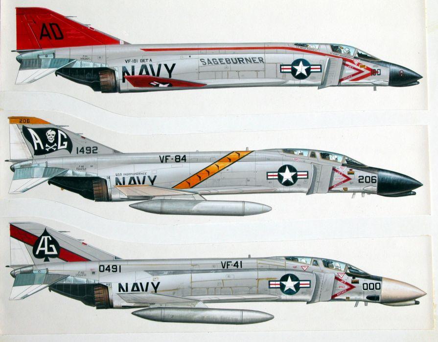 F-4 fighter jet bomber phantom airplane plane military (55) wallpaper