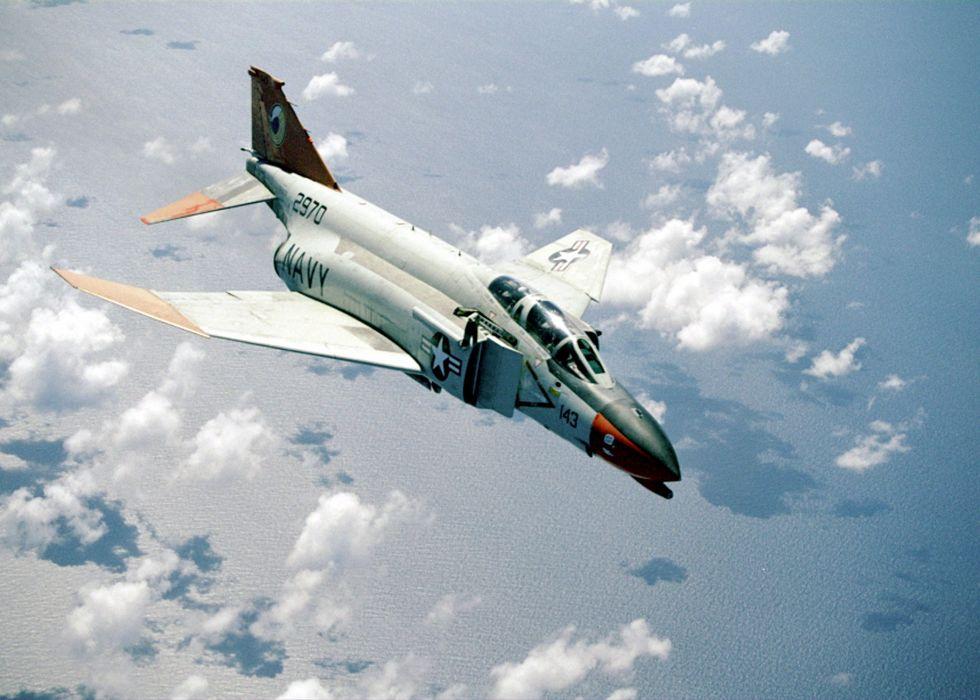 F-4 fighter jet bomber phantom airplane plane military (58) wallpaper