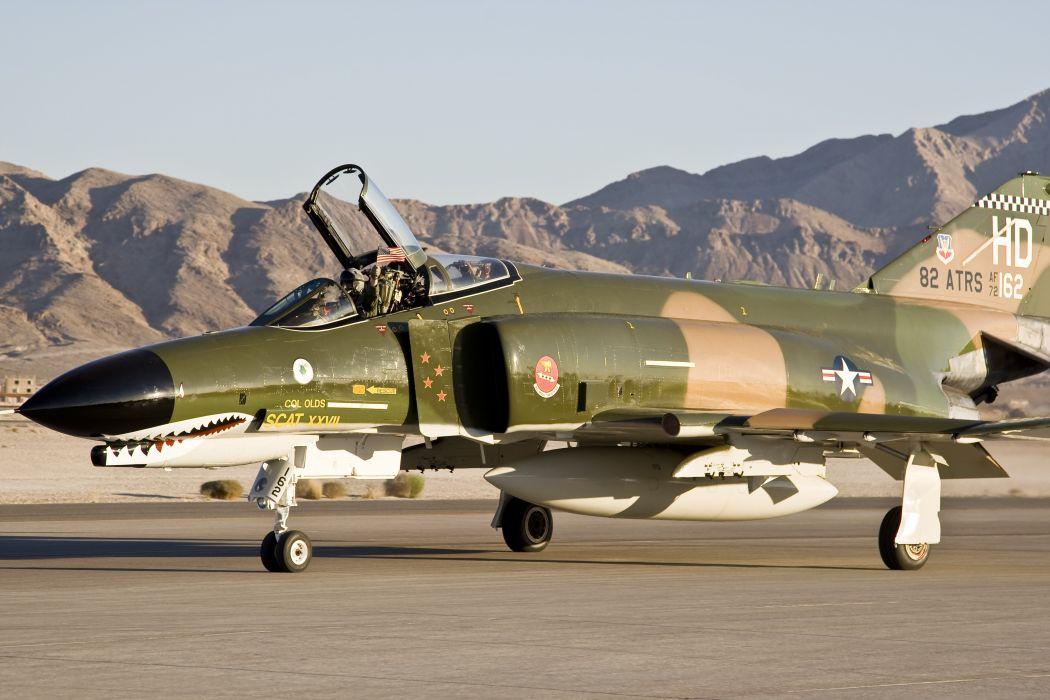 F-4 fighter jet bomber phantom airplane plane military (60) wallpaper