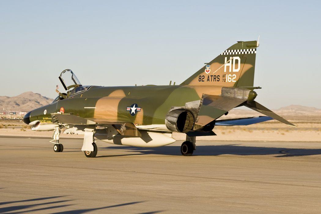 F-4 fighter jet bomber phantom airplane plane military (62) wallpaper
