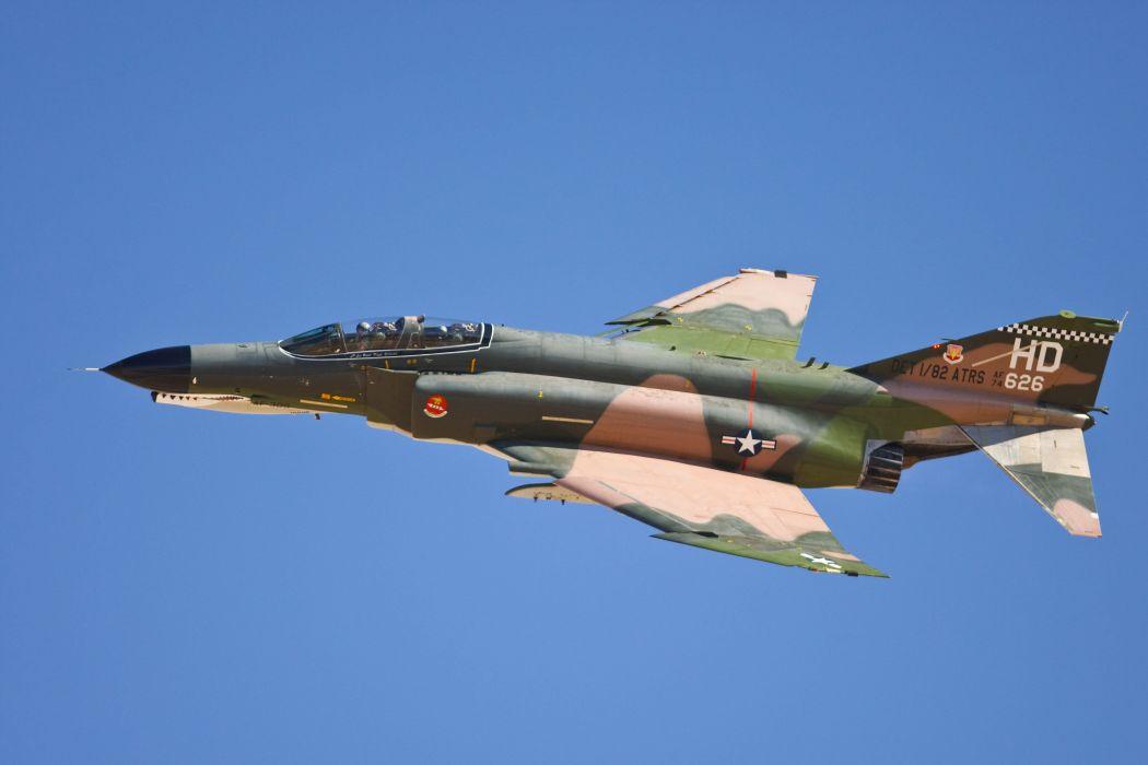 F-4 fighter jet bomber phantom airplane plane military (66) wallpaper
