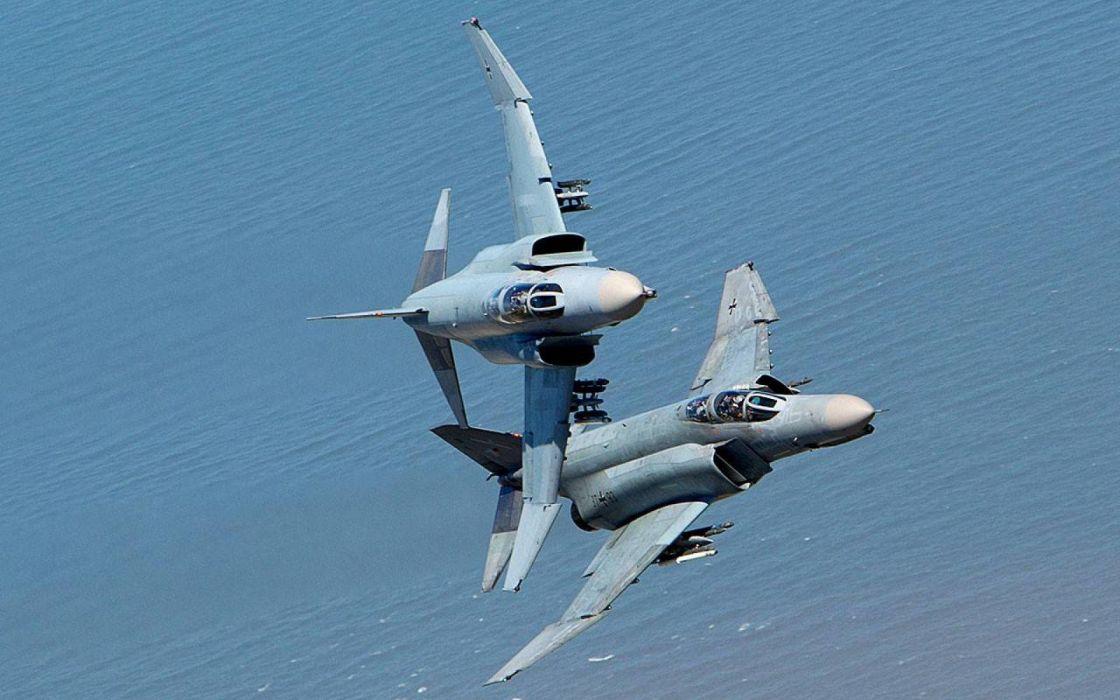 F-4 fighter jet bomber phantom airplane plane military (71) wallpaper
