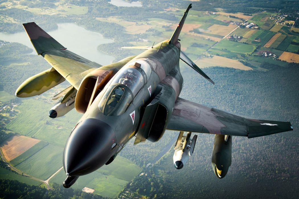 F-4 fighter jet bomber phantom airplane plane military (74) wallpaper