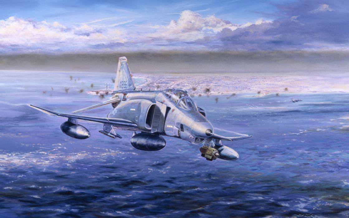 F-4 fighter jet bomber phantom airplane plane military (75) wallpaper