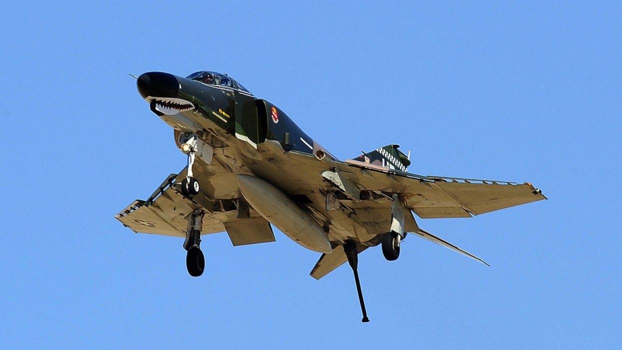 F-4 fighter jet bomber phantom airplane plane military (76) wallpaper