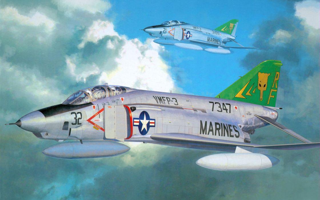F-4 fighter jet bomber phantom airplane plane military (79) wallpaper