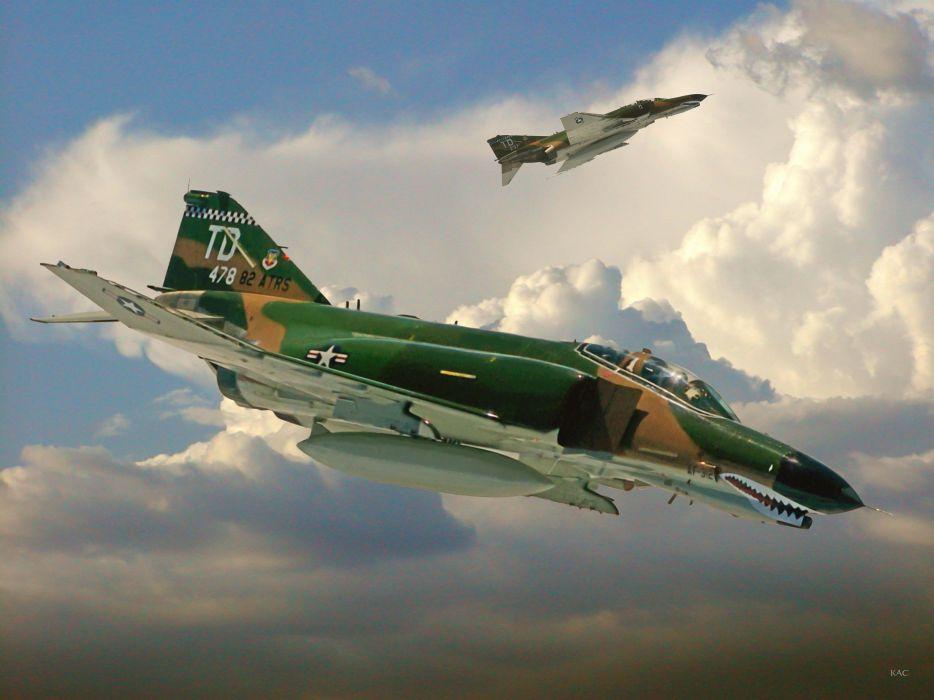 F-4 fighter jet bomber phantom airplane plane military (88) wallpaper