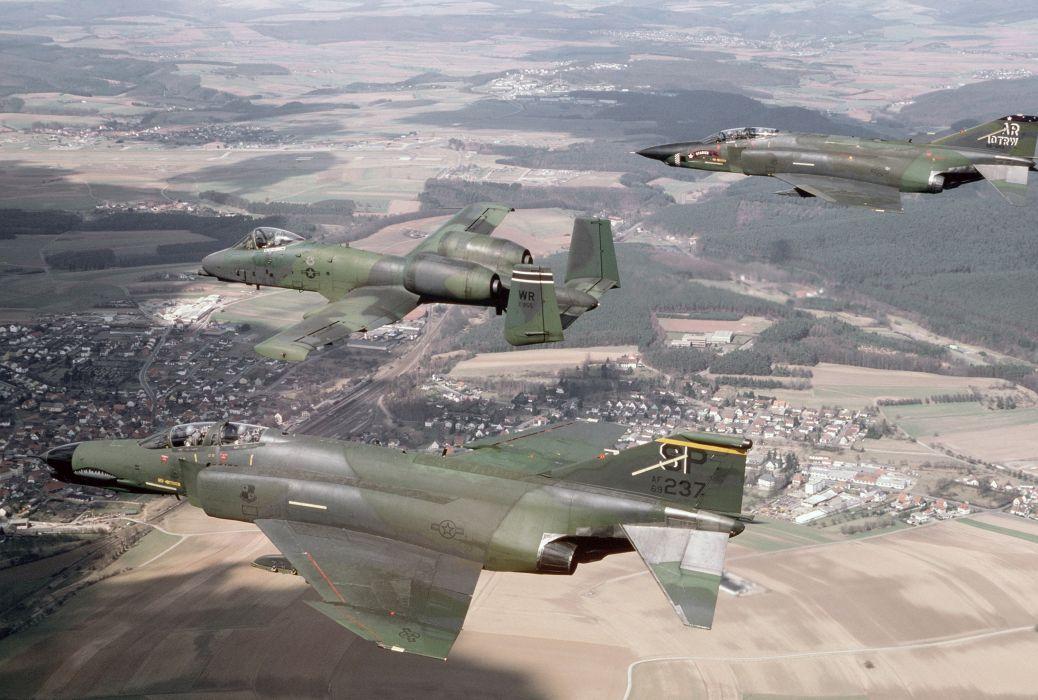 F-4 fighter jet bomber phantom airplane plane military (93) wallpaper