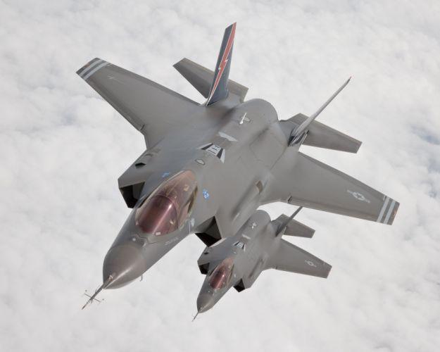 F-35 military fighter jet airplane plane lightning bomber joint (8) wallpaper