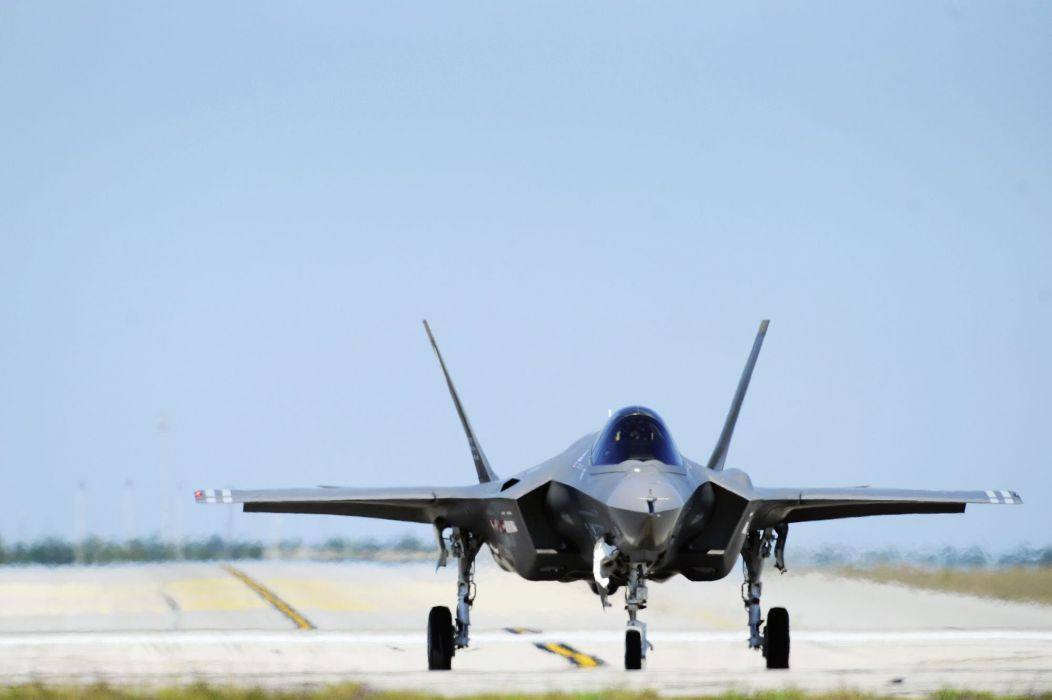 F-35 military fighter jet airplane plane lightning bomber joint (11) wallpaper