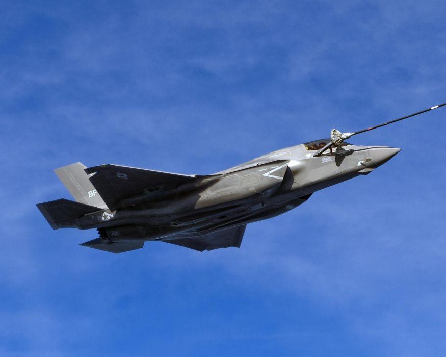 F-35 military fighter jet airplane plane lightning bomber joint (19) wallpaper