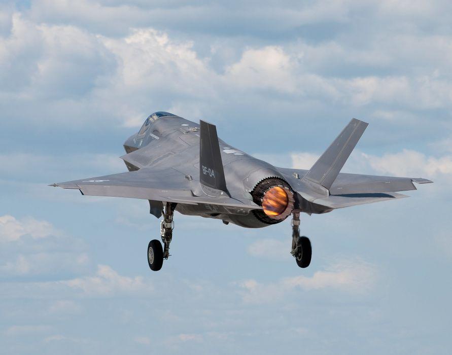 F-35 military fighter jet airplane plane lightning bomber joint (18) wallpaper