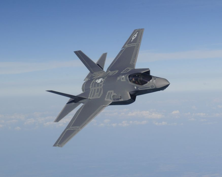 F-35 military fighter jet airplane plane lightning bomber joint (31) wallpaper