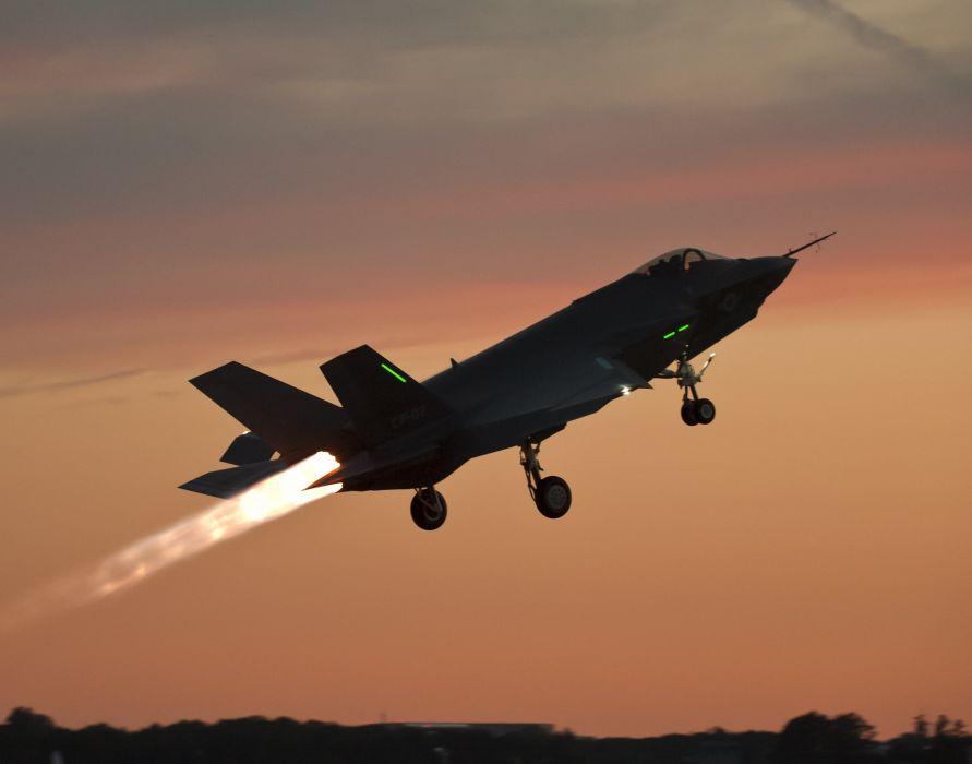 F-35 military fighter jet airplane plane lightning bomber joint (32) wallpaper