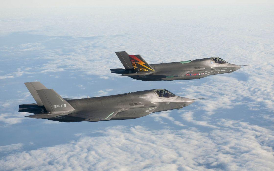 F-35 military fighter jet airplane plane lightning bomber joint (39) wallpaper
