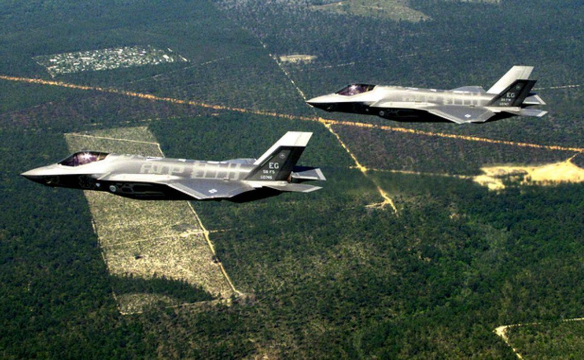 F-35 military fighter jet airplane plane lightning bomber joint (42) wallpaper