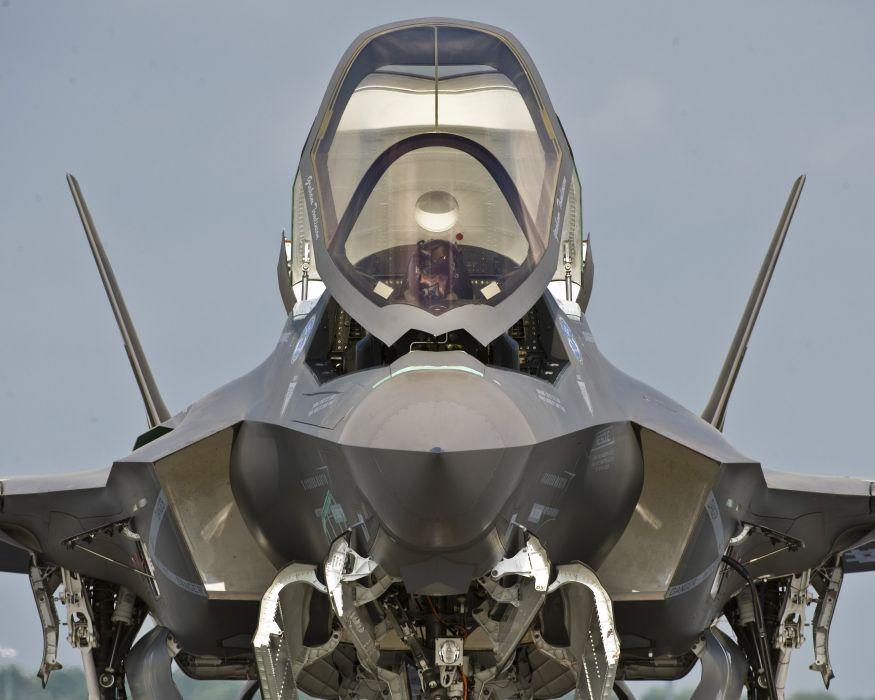 F-35 military fighter jet airplane plane lightning bomber joint (44) wallpaper