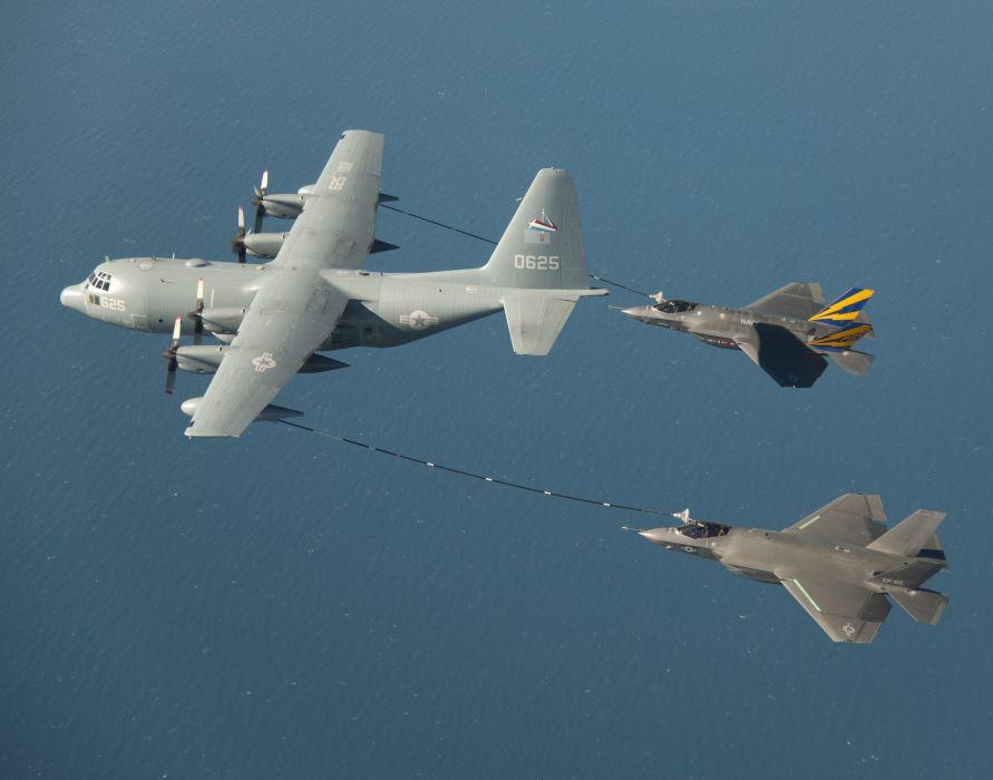 F-35 military fighter jet airplane plane lightning bomber joint (46) wallpaper