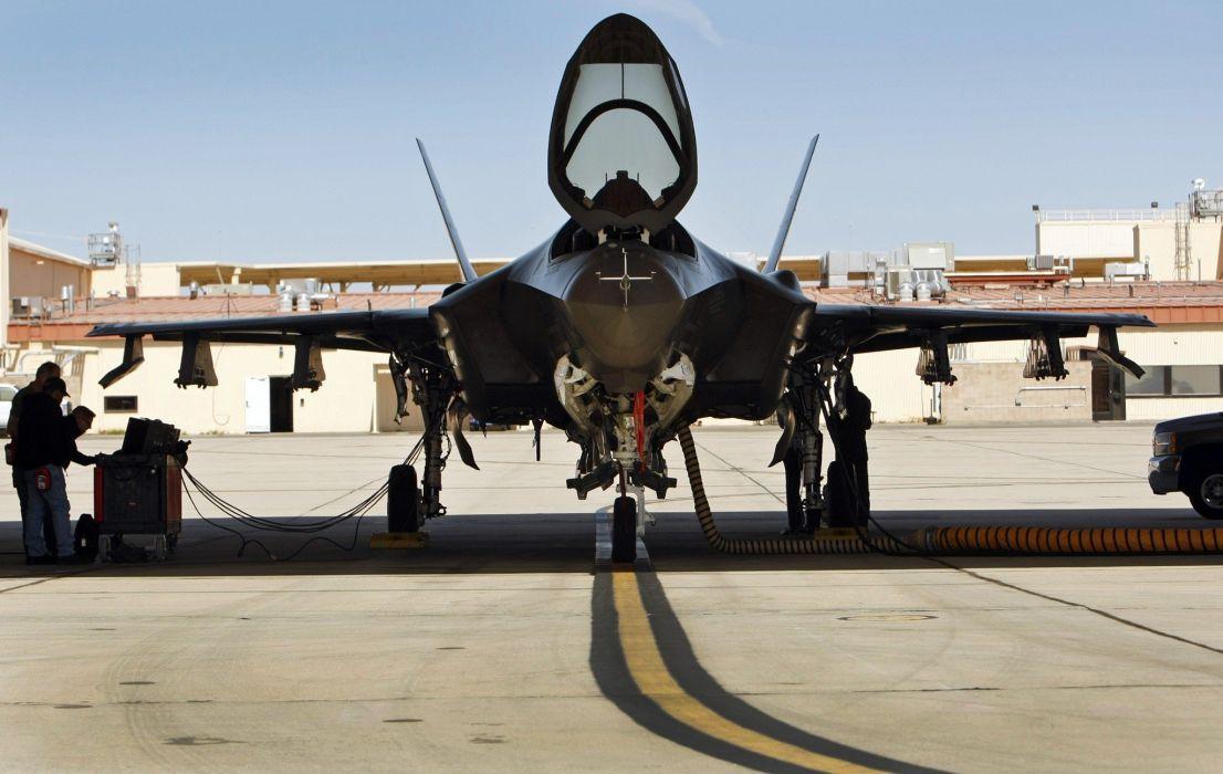 F-35 military fighter jet airplane plane lightning bomber joint (48) wallpaper