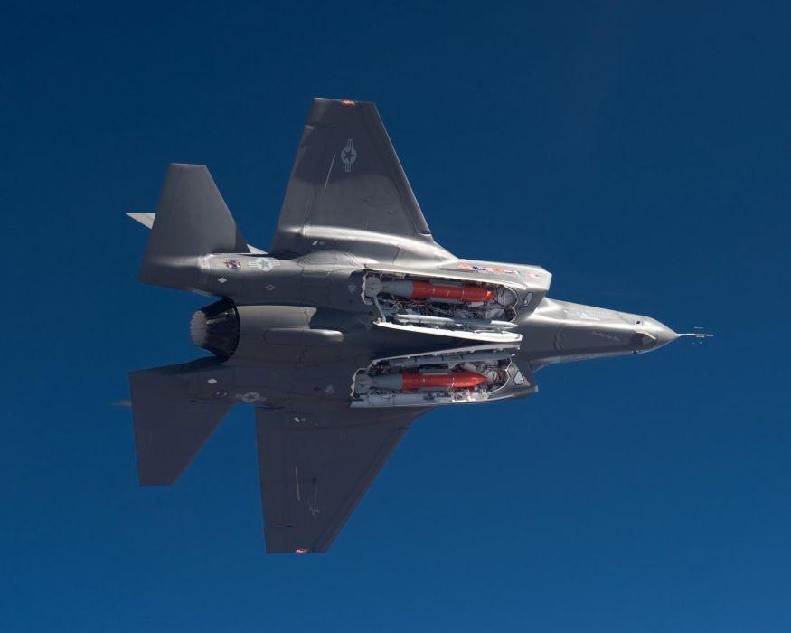 F-35 military fighter jet airplane plane lightning bomber joint (49) wallpaper