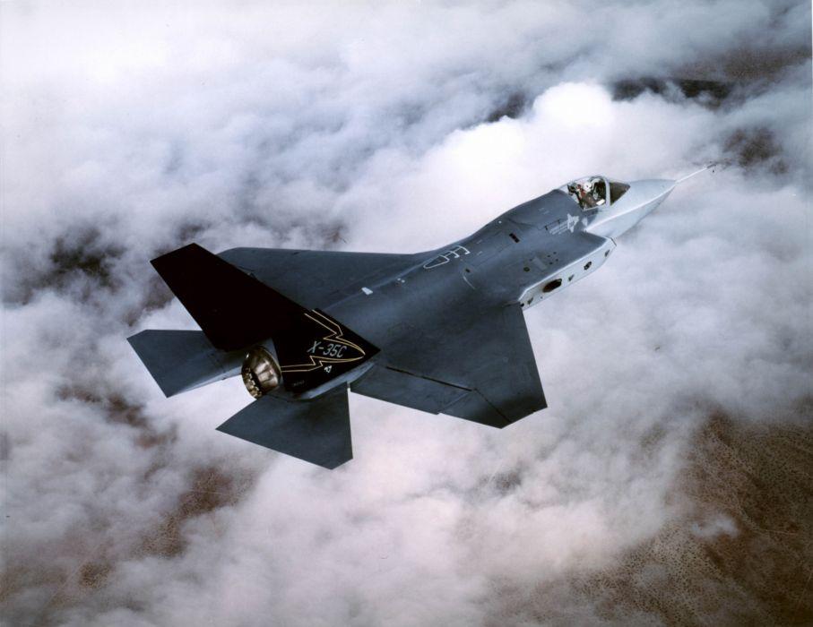 F-35 military fighter jet airplane plane lightning bomber joint (51) wallpaper