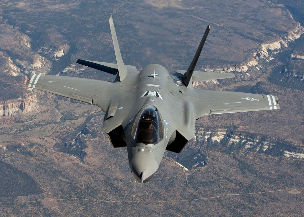 F-35 military fighter jet airplane plane lightning bomber joint (52) wallpaper