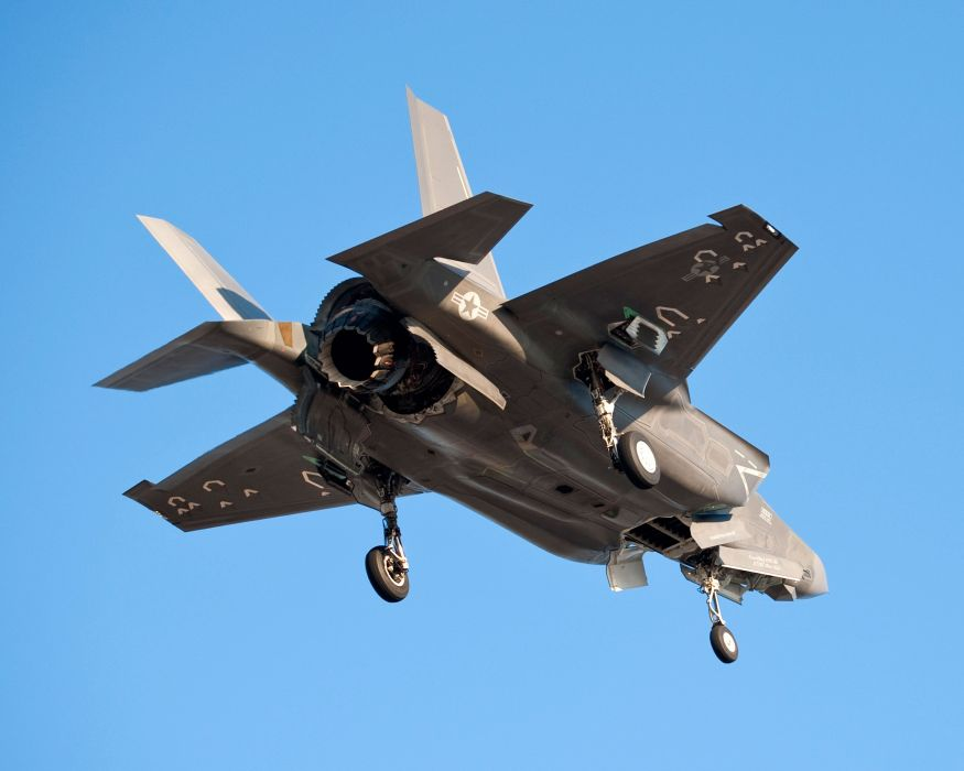 F-35 military fighter jet airplane plane lightning bomber joint (56) wallpaper