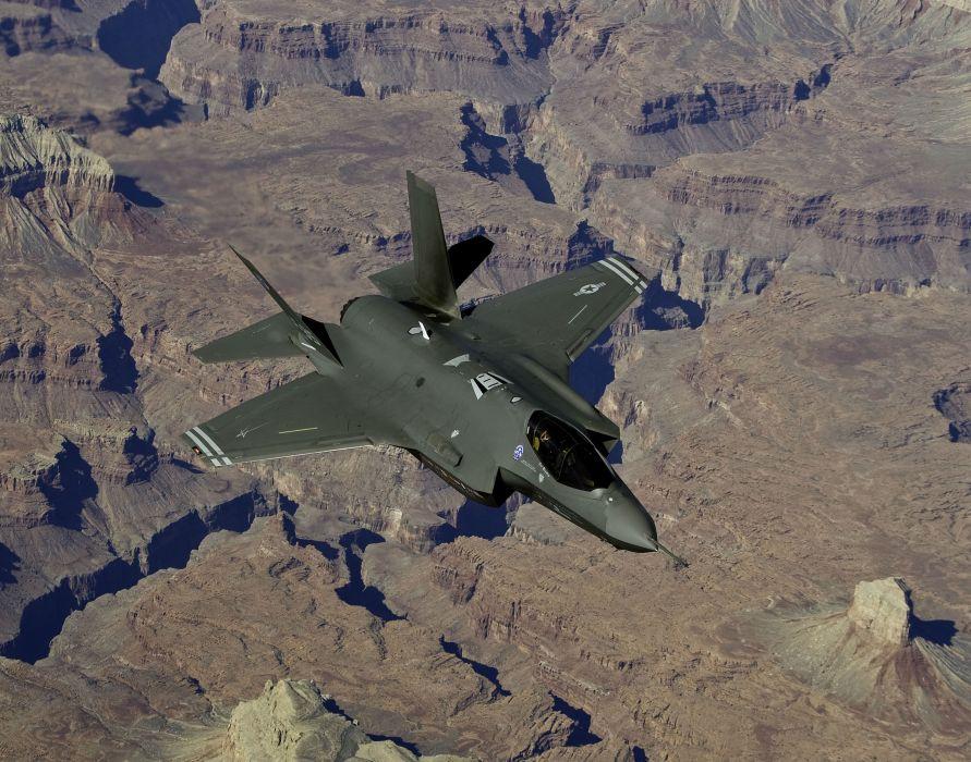 F-35 military fighter jet airplane plane lightning bomber joint (54) wallpaper