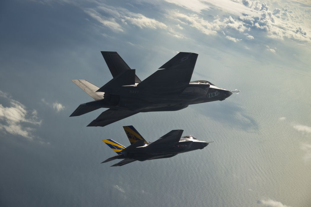 F-35 military fighter jet airplane plane lightning bomber joint (60) wallpaper