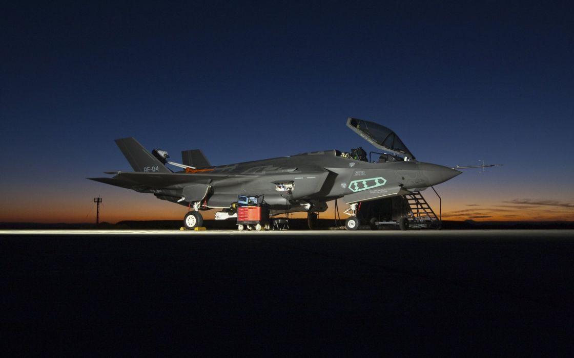 F-35 military fighter jet airplane plane lightning bomber joint (65) wallpaper
