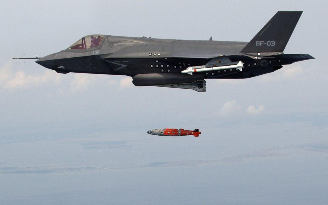 F-35 military fighter jet airplane plane lightning bomber joint (66) wallpaper