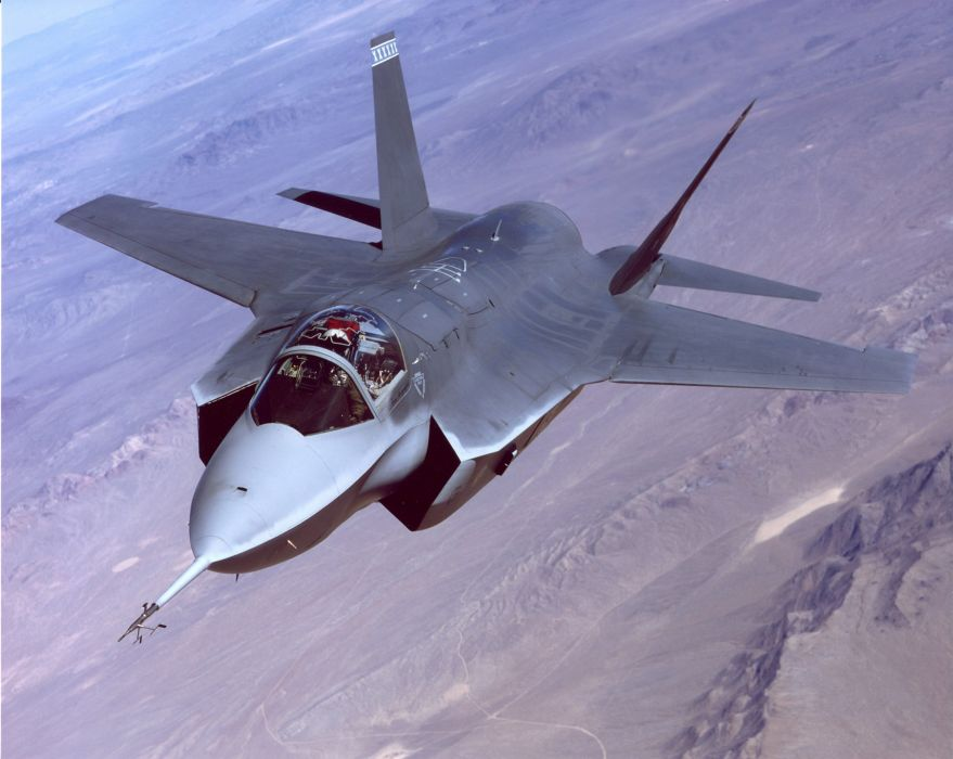 F-35 military fighter jet airplane plane lightning bomber joint (69) wallpaper