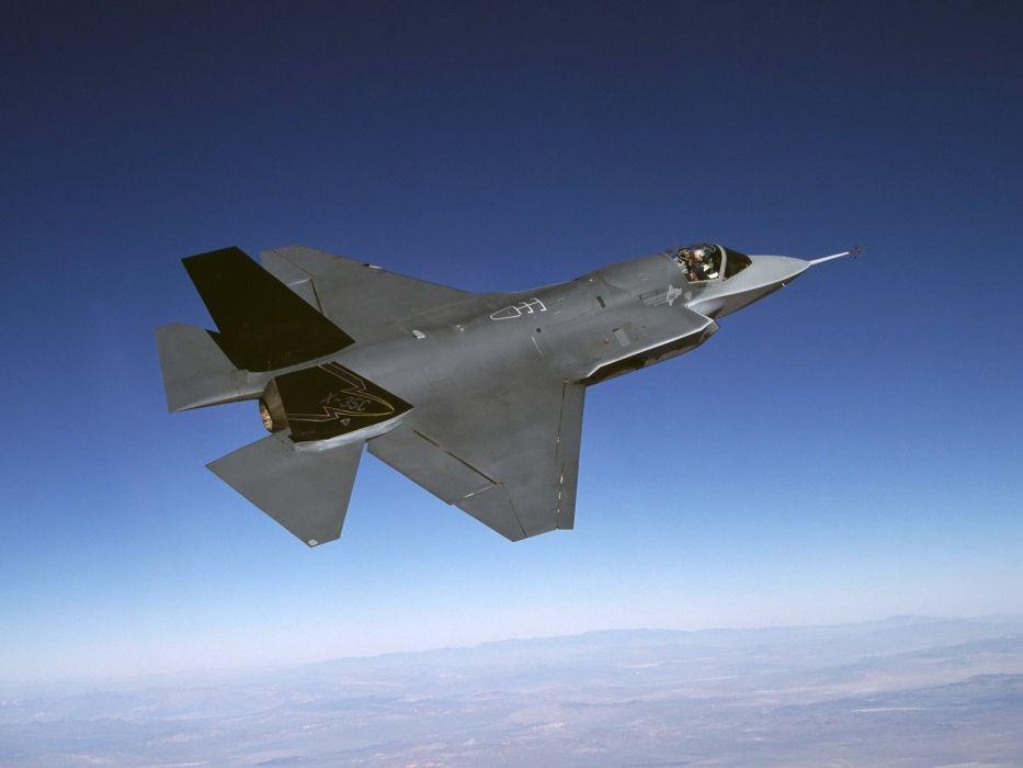 F-35 military fighter jet airplane plane lightning bomber joint (74) wallpaper
