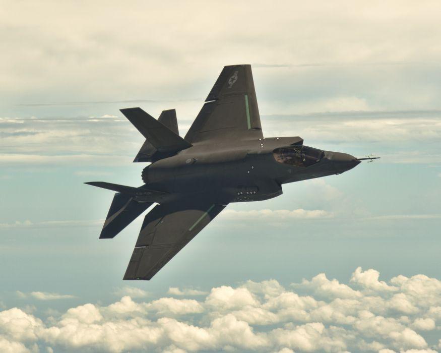F-35 military fighter jet airplane plane lightning bomber joint (71) wallpaper