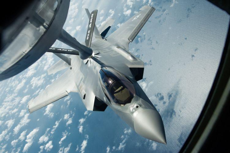 F-35 military fighter jet airplane plane lightning bomber joint (73) wallpaper