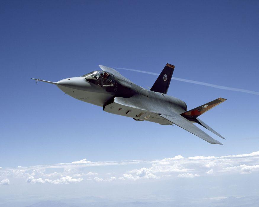 F-35 military fighter jet airplane plane lightning bomber joint (75) wallpaper